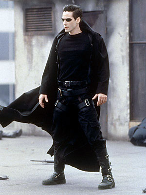Keanu Reeves in the Matrix plays 'The One', a contemporary interpretation of the savior archetype.