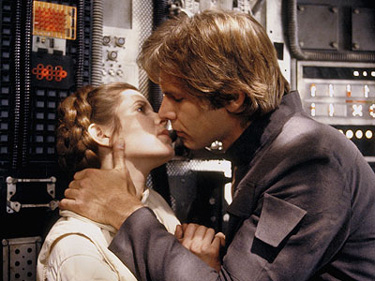 Star Wars—Harrison Ford and Carrie Fisher 1977