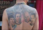 Star trek 'Geek ink'—Spock, Kirk, Picard and Data, but we already knew that!