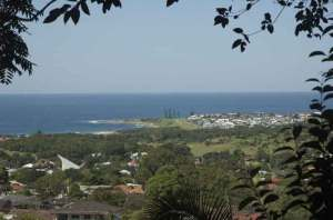 A view of Sandon Point where Kannon surfs