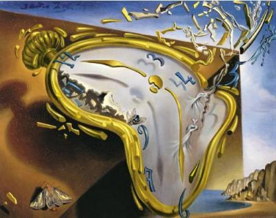 Close up of The Persistence of Memory by Dali