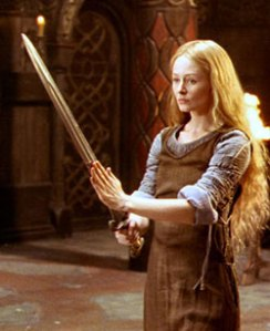 Eowyn, the maiden of Rohan, has to disguise herself as a man ...